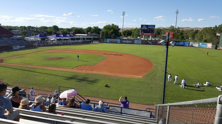 Boise Hawks first base reserved view