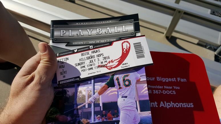 Boise Hawks ticket